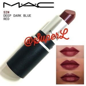 2/$20 MAC Cosmetics Matte Lipstick Sin Deep Red
